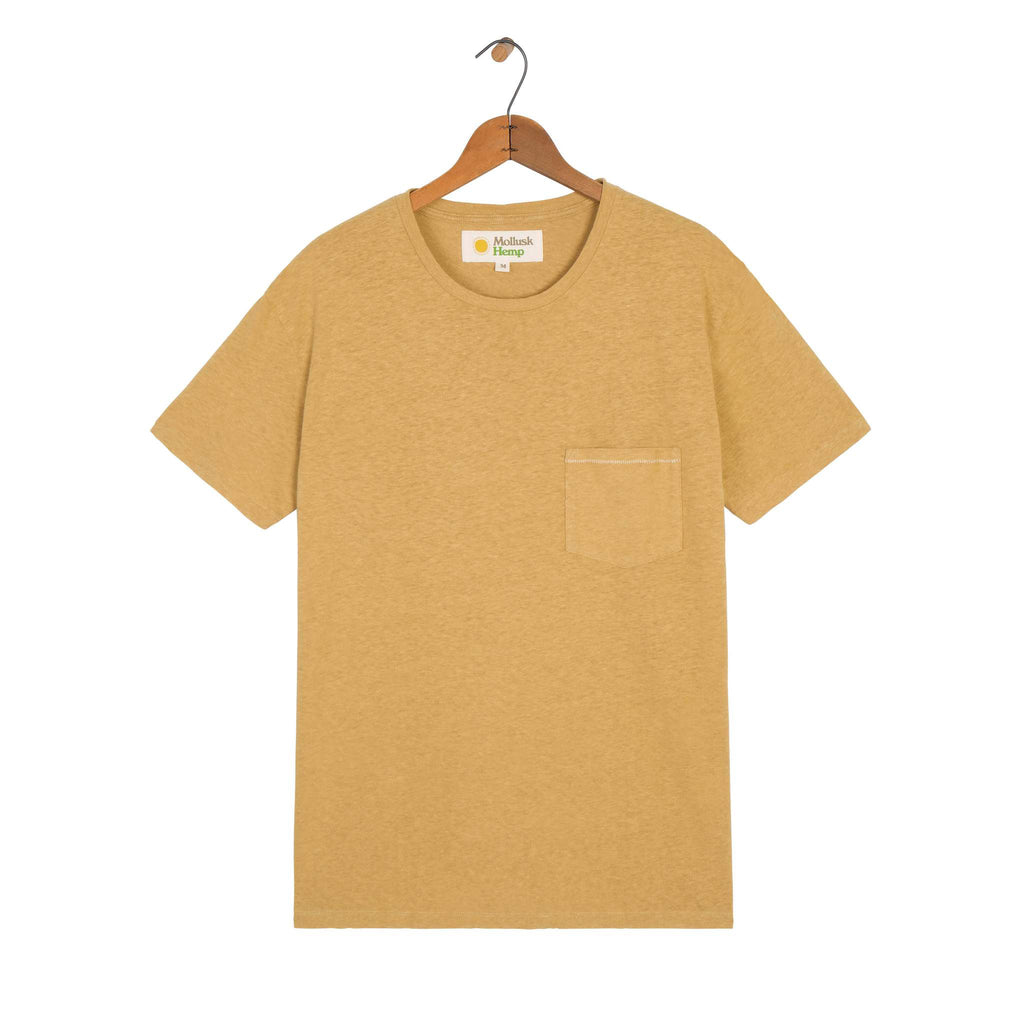 Mollusk Hemp Pocket Tee - Mustard