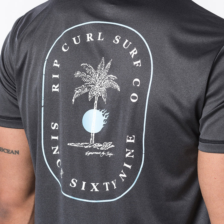 Rip Curl Black Hole UVT Shirt - Black Marle