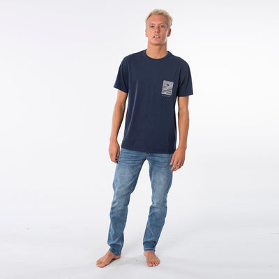 Rip Curl Searchers Drifters Tee - Indigo