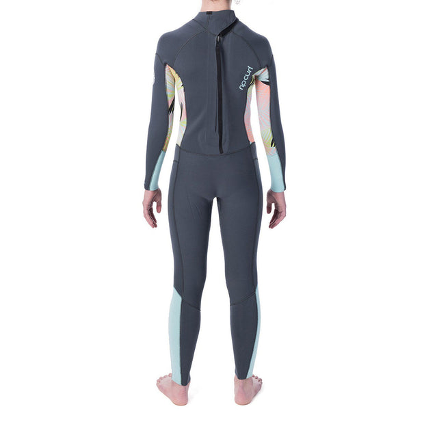 Rip Curl Jr. Girl's Dawn Patrol 4/3 Back-Zip Wetsuit - Charcoal