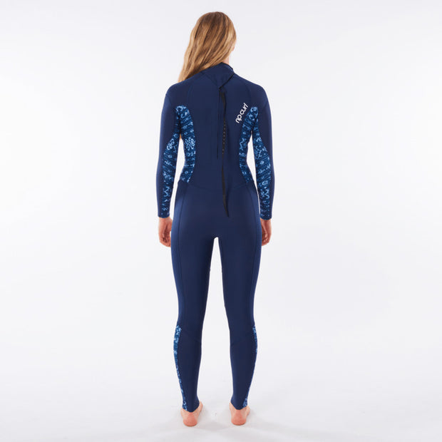 Rip Curl Women's Dawn Patrol 4/3 Back Zip Wetsuit - Blue