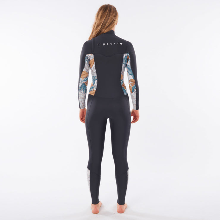 Rip Curl Women's Dawn Patrol 4/3 Chest Zip Wetsuit - Charcoal Grey
