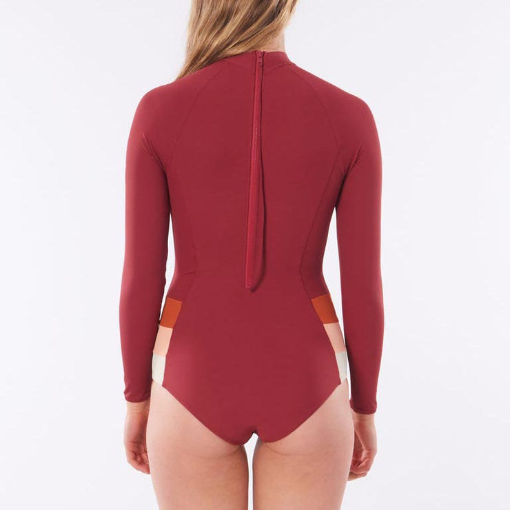 Rip Curl Surf Revival 'Golden Days' Long Sleeve UV Surf Suit - Maroon