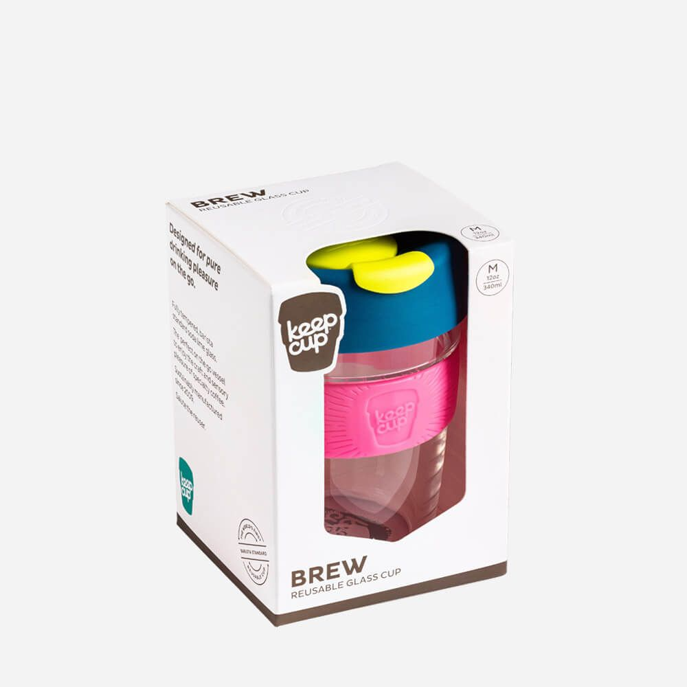 Keep Cup Reusable Cup - 12 Oz Brew Glass - Variety of Colours