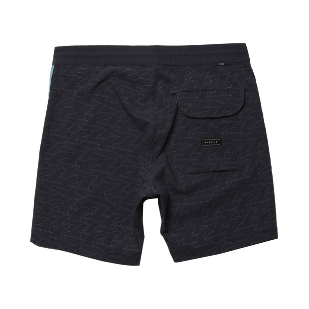 "Vissla Backwards Fin Beach Grit 16.5""  Boardshort - Black"