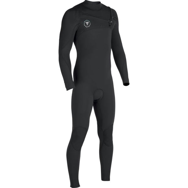 Vissla 7 Seas 4/3 Chest Zip Wetsuit - Black Fade