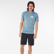 Rip Curl Mind Wave UV Tee - Mid Blue