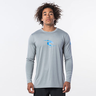 Rip Curl Icon Long Sleeve Relaxed UVT - Light Grey