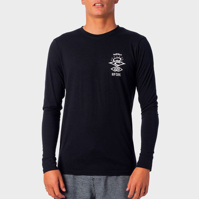 Rip Curl Search Logo L/S UV Tee - Black