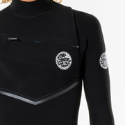 Rip Curl E-Bomb 3/2 Chest Zip Wetsuit - Black