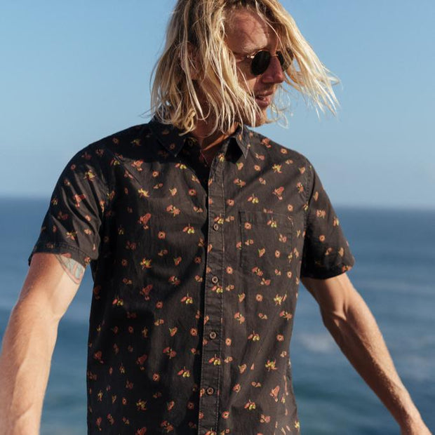 Banks Journal Sprout Woven Shirt - Dirty Black