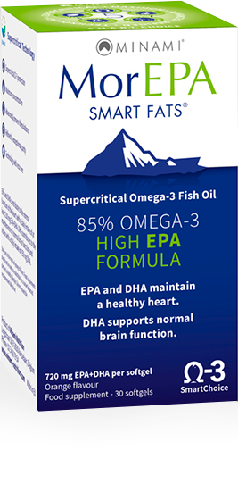 MorEPA Smart Fats Fish Oil by Minami Nutrition 80% Omega-3 (Discounts Available)