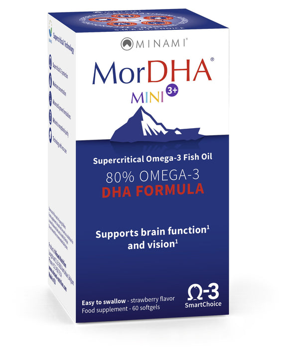 MorDHA Mini - Highest DHA Children's Formula by Minami Nutrition - for 6 Months to 5 Years (Discounts Available) - 1stVitality UK