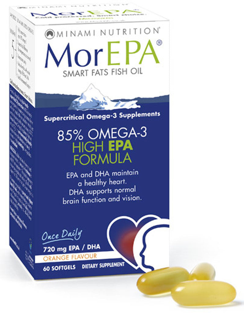 MorEPA Smart Fats Fish Oil by Minami Nutrition 80% Omega-3