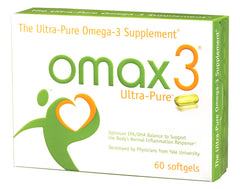 Omax3 - The Ultra Pure Omega-3 Essential Fatty Acid Fish Oil Supplement - 97% Omega-3 Content 1500mg Omega-3 Fatty Acids (1125mg EPA and 275mg DHA) - 4:1 EPA:DHA