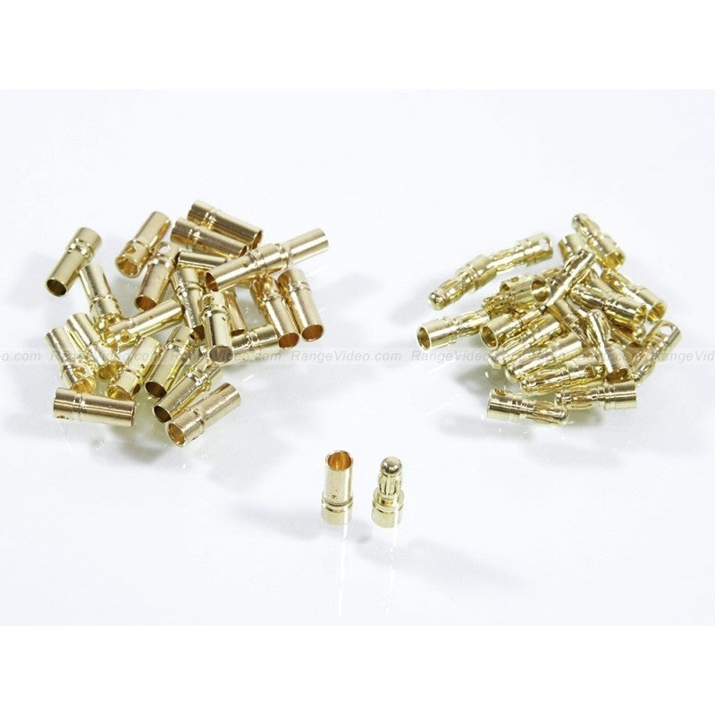 3.5mm male and female golden connectors