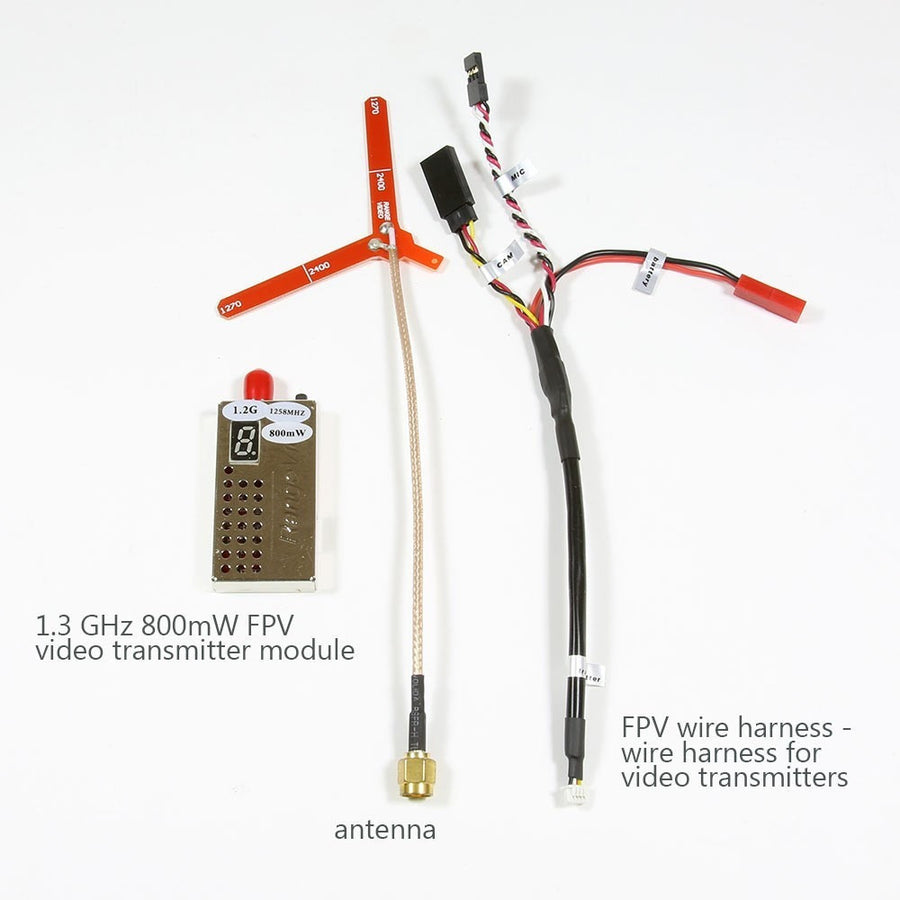 1.2 GHz 800mW video transmitter antenna and harness