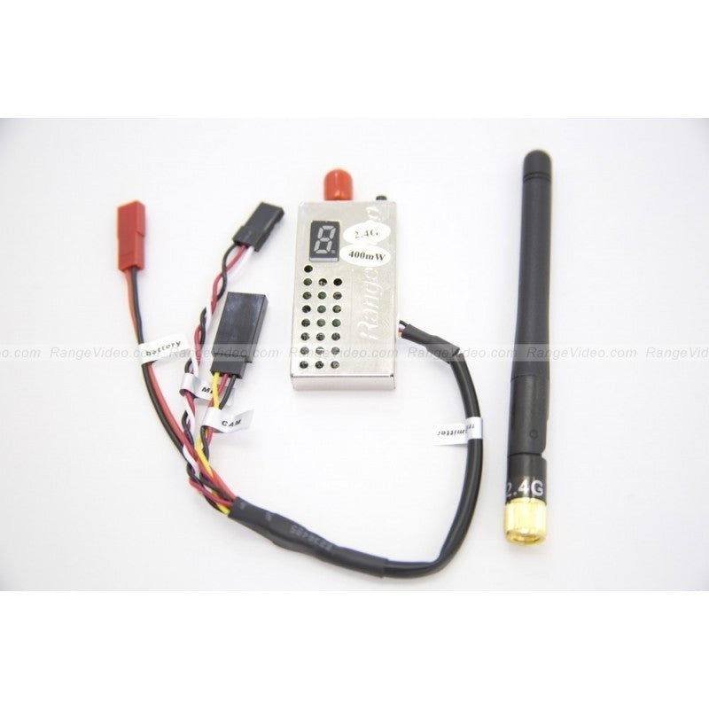2.4 GHz 400mW FPV video transmitter module  w/antenna & harness