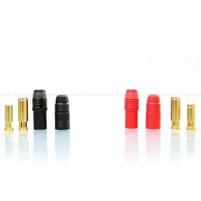 AN150 Anti Spark Self Insulating Bullet Connectors red+black (1 pair)