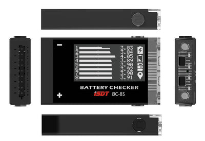 ISDT BC-8S Battery Checker with  Buzzer OLED Screen
