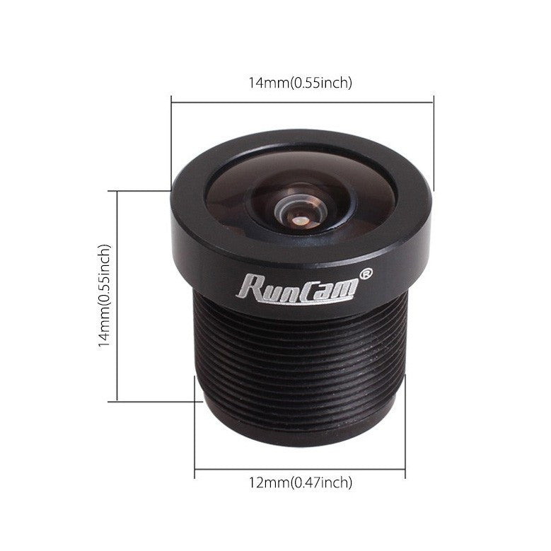 "RunCam 1/3"" camera lens f2.3mm FOV 150"
