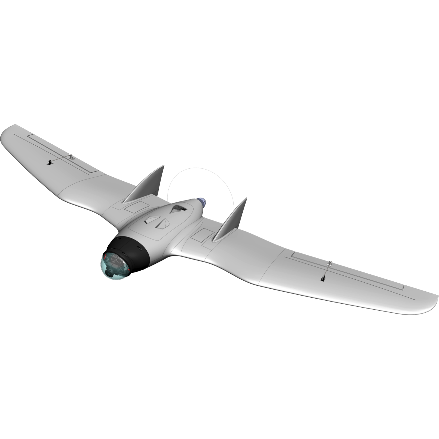 RVJET 1950 mm FPV Flying Wing Kit with Pan and Tilt Dome- Pre order
