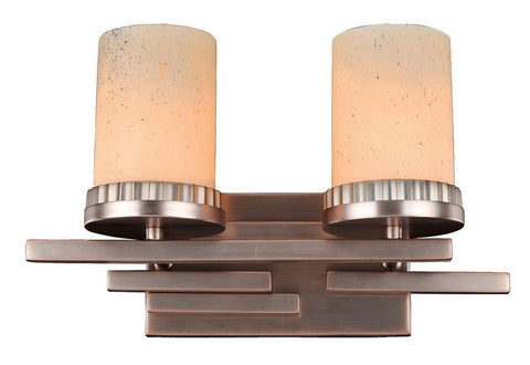 Kalco Lighting 2872BR Brandon Collection Two Light Bath Vanity Wall Sconce in Brushed Bronze Finish - Quality Discount Lighting
