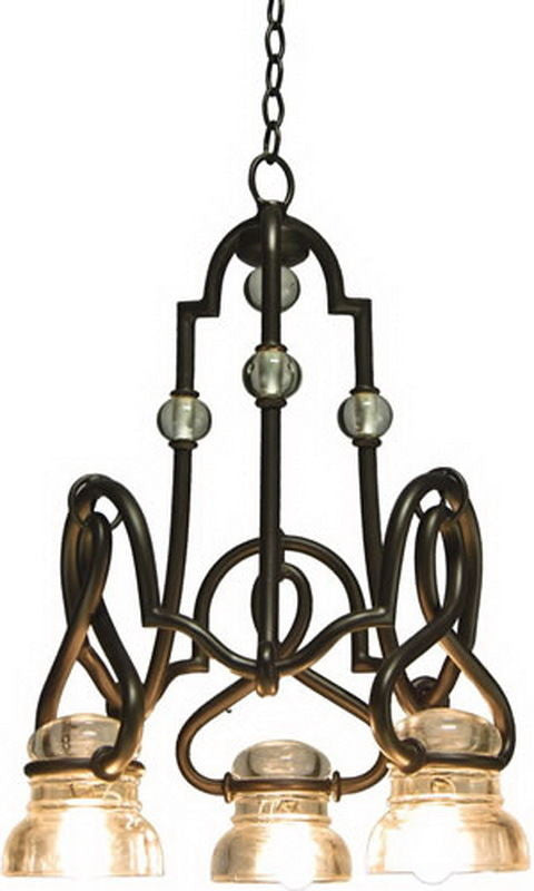 Kalco Lighting 2737SZ Darlington Collection Three Light Chandelier in Satin Bronze Finish - Quality Discount Lighting