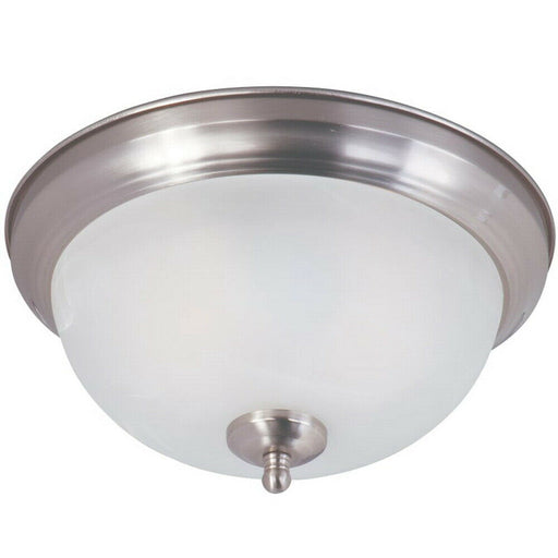 Trans Globe Lighting 104430 BN Two Light Flush Ceiling Fixture in Brushed Nickel Finish