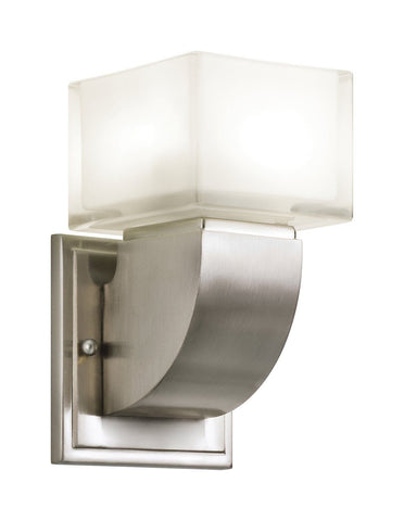 Kichler Lighting 10449 NI Islita Collection One Light GU24 Energy Efficient Fluorescent Wall Sconce in Brushed Nickel Finish - Quality Discount Lighting