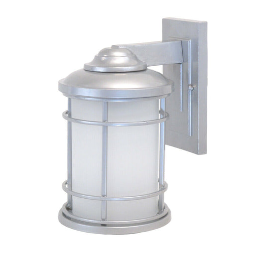 Epiphany Lighting 104957 SL One Light Exterior Wall Mount in Painted Silver Finish