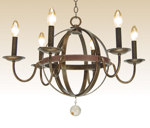 Kalco Lighting 2765CC Devon Collection Six Light Chandelier in Copper Claret Finish - Quality Discount Lighting