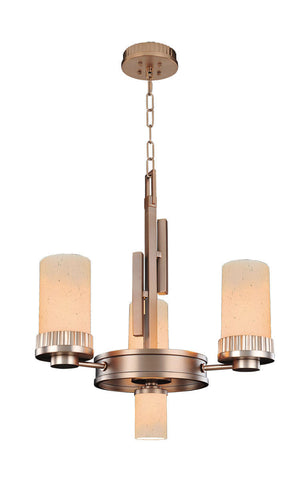 Kalco Lighting 2876BR Brandon Collection Three Light Chandelier in Brushed Bronze Finish - Quality Discount Lighting