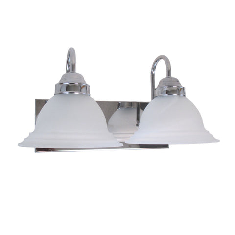 Epiphany Lighting 106080 CH-G030 Two Light Bath Wall Fixture in Polished Chrome Finish and Frosted Bell Glass - Discount Lighting Fixtures