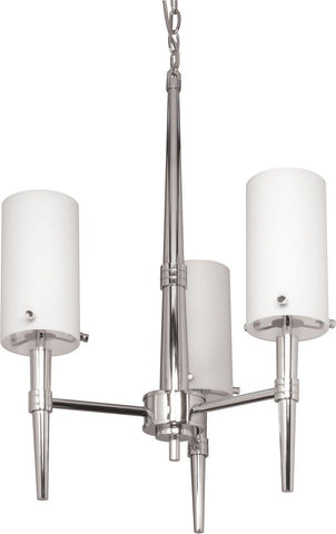 Nuvo Lighting 60-1067 Jet Collection Three Light Chandelier in Polished Chrome Finish