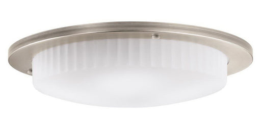 Kichler Lighting 10895 AP Athenos Collection Three Light GU24 Energy Efficient Fluorescent Ceiling Flush Mount in Antique Pewter Finish - Quality Discount Lighting