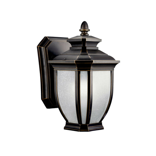 Kichler Lighting 11001RZ-LED Salisbury Collection One Light LED Exterior Outdoor Wall Lantern in Rubbed Bronze Finish