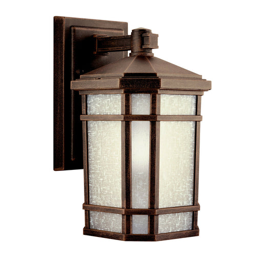 Kichler Lighting 11017PR-LED Prairie Rock Collection One Light LED Exterior Outdoor Wall Lantern in Prairie Rock Finish