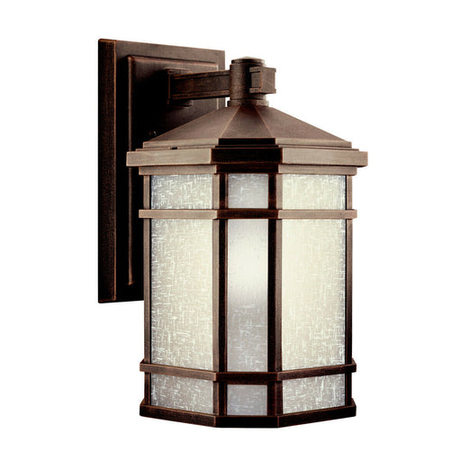 Kichler Lighting 11018PR-LED Prairie Rock Collection One Light LED Exterior Outdoor Wall Lantern in Prairie Rock Finish