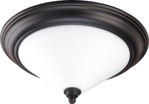 Nuvo Lighting 60-1706 Bridgeview Collection Two Light Flush Ceiling in Mission Dust Bronze Finish