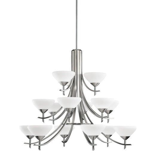 Kichler Lighting 1681 AP Olympia Collection Fifteen Light Chandelier in Antique Pewter Finish
