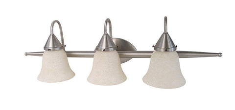 Craftmade Lighting 17829 SN-G425 Panache Collection Three Light Bath Vanity Wall Mount in Satin Nickel Finish