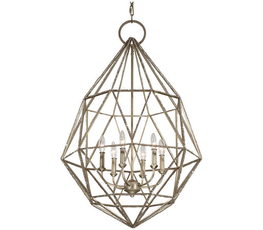 Murray Feiss Lighting F2942/6BUS Marquise Collectioni Six Light Pendant Chandelier in Burnished Silver Finish - Quality Discount Lighting