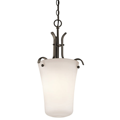 Kichler Lighting 43076OZFL Armida Collection One Light Energy Efficient Pendant in Olde Bronze Finish