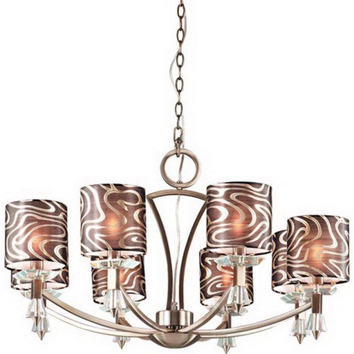 Trans Globe Lighting 70118 AB Eight Light Chandelier in Antique Brass Finish with Crystal Accents - Discount Lighting Fixtures
