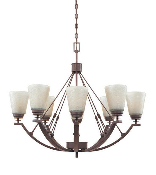 Designers Fountain Lighting 81688 TU Harlow Collection Eight Light Hanging Chandelier in Tuscana Bronze Finish - Quality Discount Lighting