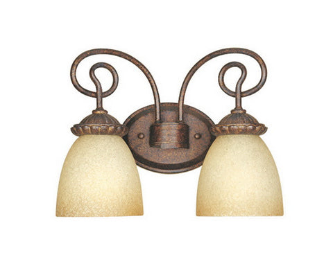 Designers Fountain Lighting 99302 AUB Belaire Collection Two Light Bath Vanity Wall Sconce in Aged Umber Bronze Finish - Quality Discount Lighting