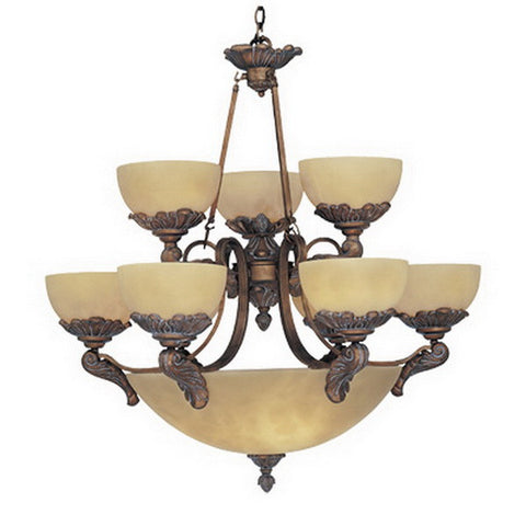 Designers Fountain Lighting 5969 EG Arezzo Collection Fourteen Light Chandelier in European Gold Finish - Quality Discount Lighting