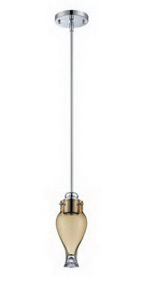 Designers Fountain Lighting 6314 AMCH Gem Collection One Light Hanging Mini Pendant in Polished Chrome Finish - Quality Discount Lighting
