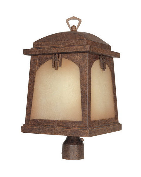 Designers Fountain Lighting ES21026 VBR Casa Grande Collection One Light Energy Efficient GU24 Exterior Post Lantern in Venetian Bronze Finish - Quality Discount Lighting